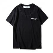 今が買い!2018春夏新品オフホワイト Tシャツ 新作メンズ綿クルーネックOFF WHITE刺繍デザインブラック半袖ホワイトレディースファッション