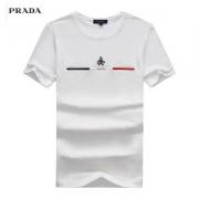 2018年春夏新作 PRADA tシャツ ブランド メンズ プラダ 半袖 Tee ブラック ホワイト 人気 抜群な存在感 クルーネック コットン 上質