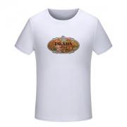 2018新作新品PRADA大人気プラダ Tシャツ メンズ半袖コットンクルーネックプリントブラックホワイト価格セール即発◆高級トップス