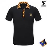大人気商品再入荷ヴィトン TシャツメンズLOUIS VUITTON半袖ポロシャツ2018LV刺繍ロゴチェック柄ネックブラックホワイトビジネスマン