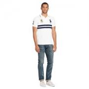 春夏2018年新作大人気Polo Ralph LaurenポロラルフローレンClassic Fit Mesh Polo Shirtメンズ半袖ポロシャツ431029ホワイトネイビーレッド