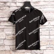 新品バレンシアガ TシャツBALENCIAGAプリントコットン人気半袖ブラックホワイトレッドコットンクルーネック2018春夏新作