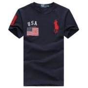 人気新作スーパー コピー 通販半袖メンズTシャツPolo Ralph Laurenポロラルフローレンコットンフラッグパッチ刺繍ロゴトップスネイビーホワイトレッド