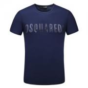 2018春夏新作DSQUARED2ディースクエアード半袖メンズTシャツDsquared2 T-Shirtラウンドネックプリント柄 ロゴ入りジャージーコットンS74GD0328S22742858M
