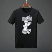 T-Shirt ブラッドLOUIS VUITTONヴィトンモノグラムウサギプリントクルーネックTシャツホワイトクルーネックブラック18年夏は袖メンズファッション