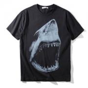 GIVENCHY Tシャツジバンシィ人気ブラックコットンクルーネック綿シャークプリント半袖高品質メンズレディーストップスデザイン高い