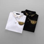 半袖Tシャツ 2色可選 ヴェルサーチ VERSACE 2018着回し度高めアイテム! 最旬のファッション