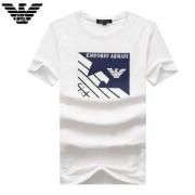 激安大特価最新作ARMANIアルマーニ Tシャツ半袖クルーネックブラックプリントホワイトコットン美しい18春夏トップスメンズ
