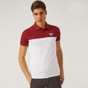 春夏お買い得高品質ARMANIアルマーニ ポロシャツ コピー切り替え配色カジュアルシャツトップス半袖2色可選