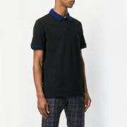 2018年愛用率高いブラック無地ポロシャツ メンズBURBERRYバーバリーブルーロゴ刺繍カジュアルシンプル半袖メンズ18大人気新作新品