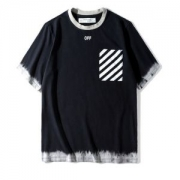 2色可選半袖Tシャツ Off-Whiteお得な激安セール価格オフホワイトフィット感のある