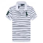 ポロラルフローレン ポロシャツ2018年最新人気Polo Ralph Lauren刺繍ロゴコットンボーダー綿半袖爽やかホワイトメンズ