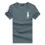 2018夏品質保証お買い得Polo Ralph Laurenポロラルフローレン Tシャツ半袖刺繍ロゴコットンクルーネックメンズ用グレーブラック多色