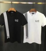 アルマーニ半袖Tシャツ ARMANIストレッチコットンジャージー製ブラックホワイトクルーネック人気新作3ZPT70PJ02Z11852