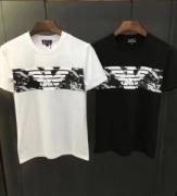 新作ARMANIマキシロゴコットンアルマーニ半袖Tシャツクルーネック3ZPT44PJ30Z11852メンズ用ブラック黒おしゃれ感で魅せる!