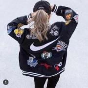 シュプリームSUPREME× Nike Air Force 1 Mid 07 NBAナイキWarm-Up Jacketジャケット新作人気ブルーホワイトブラックアウターブルゾン野球服