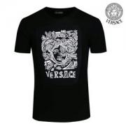 【18SS新品即納OK】ヴェルサーチ Tシャツ コピー ファション カジュアル VERSACE人気 トップス オシャレ感 黒 限定セール