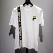 FENDI メンズ tシャツ ストリートなどに大活躍 入手困難 フェンディ スーパーコピー ブラック ホワイト コーデ 最安値