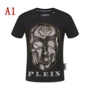 フィリッププレイン tシャツ コピー メンズ ユニークなプリントで大人気 PHILIPP PLEIN ブラック カジュアル 高品質