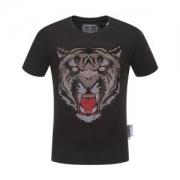 フィリッププレイン メンズ トップス ファッションの最先端 PHILIPP PLEIN 服 プリント コピー ブラック ホワイト 高品質