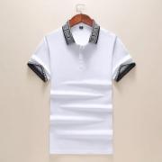 VERSACE メンズ ポロシャツ 優れた通気性で大人気 ヴェルサーチ コピー ブラック ホワイト カジュアル 通勤通学 品質保証