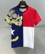 ヴェルサーチ VERSACE メンズ tシャツ 夏に涼やかな印象があるアイテム スーパーコピー BANDIERA PRINT 上質 最安値