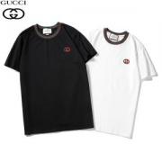 2色可選  今注目度が上がって グッチ トレンドカラー GUCCI 2019春夏新作登場 半袖Tシャツ コーデが地味見える