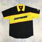 ファッションに2019秋の色が増えてきたアイテム 2色可選 お洒落を楽しみたいこの季節Tシャツ/半袖 Supreme color blocked work shirt 19AW logo
