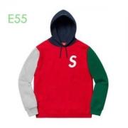 流行色2019秋冬に取り入れたいSupreme 19aw S Logo Colorblocked Hooded Sweatshirt  3色可選 ナチュラルコーデに使いやすい