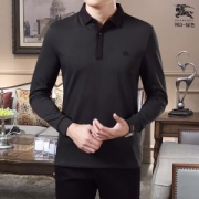 長袖Tシャツ 2色可選 程良いハリ感で高級感のある仕上 流行色2019秋冬に取り入れたい  バーバリー BURBERRY
